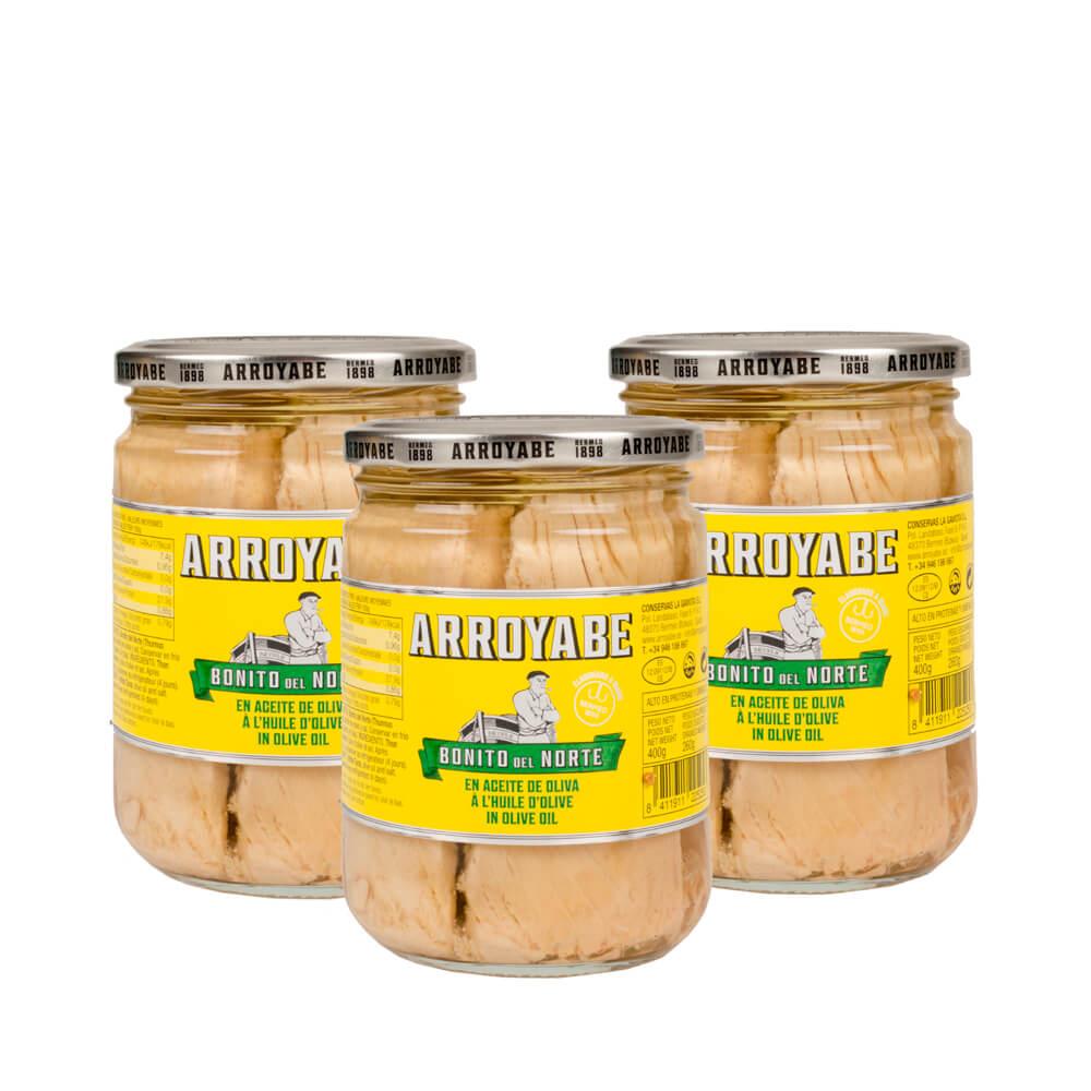 Pack Bonito del Norte en aceite de oliva - 3 x 400 g