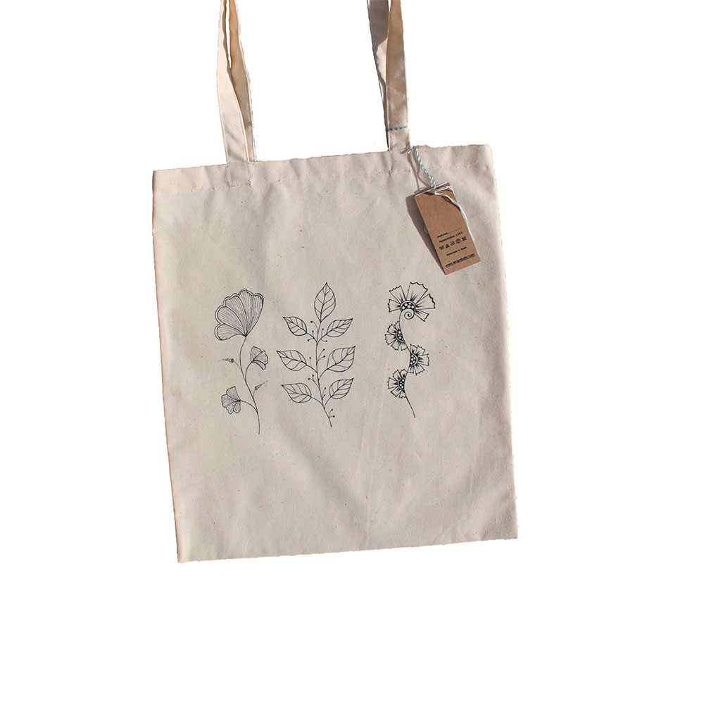 Bolso Tote de algodón 3 Flores