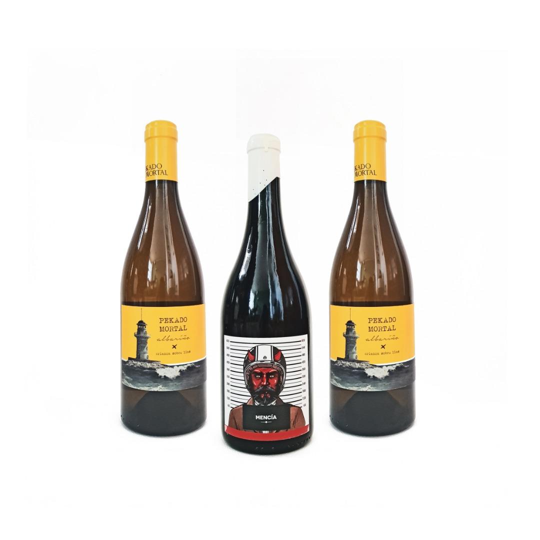 Albariño DO Rías Baixas y Mencía DO Ribeira Sacra - Lote 3x750 ml