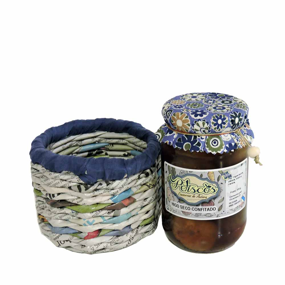Petiscos Canned dried fig basket