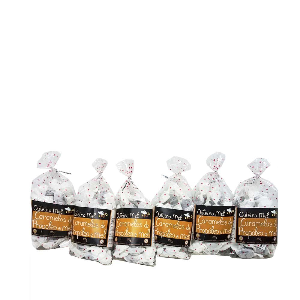 Johnny Pérez Alonso (Apícola Outeiro) Honey and Propolis Outeiro Candies – 6 bags of 100 grams