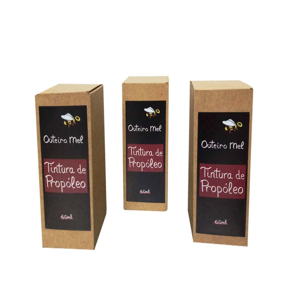 Johnny Pérez Alonso (Apícola Outeiro) Propolis tincture - 3 bottle of 60 ml