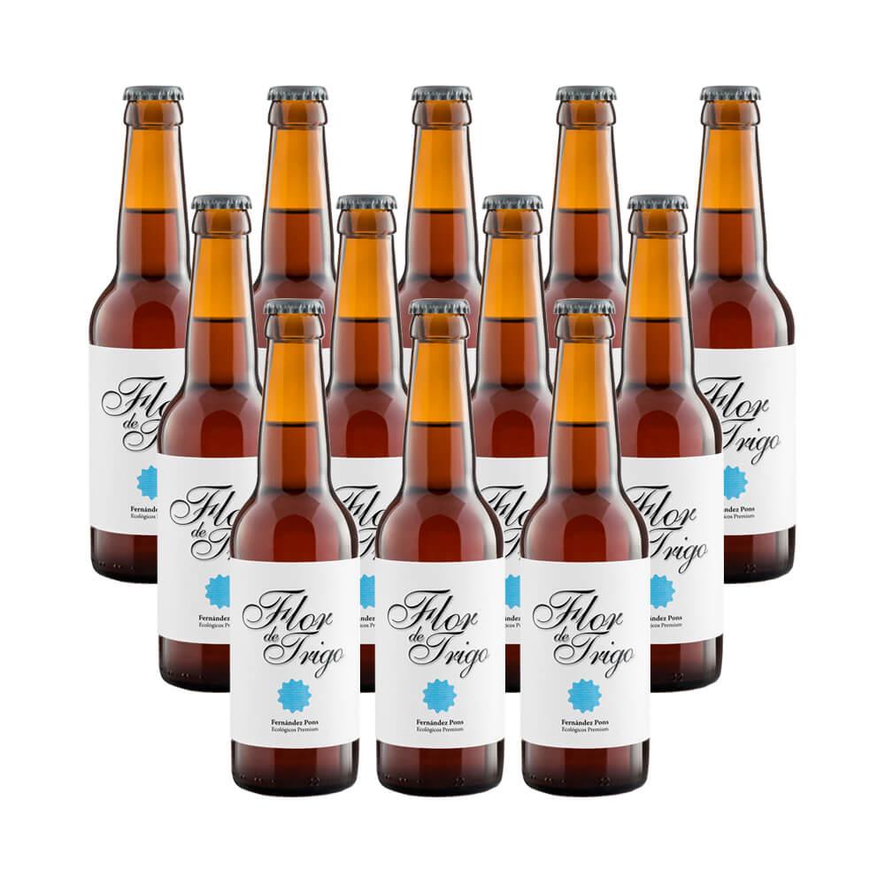 Cerveza rubia ecológica Flor de Trigo - 12 botellas 33 cl