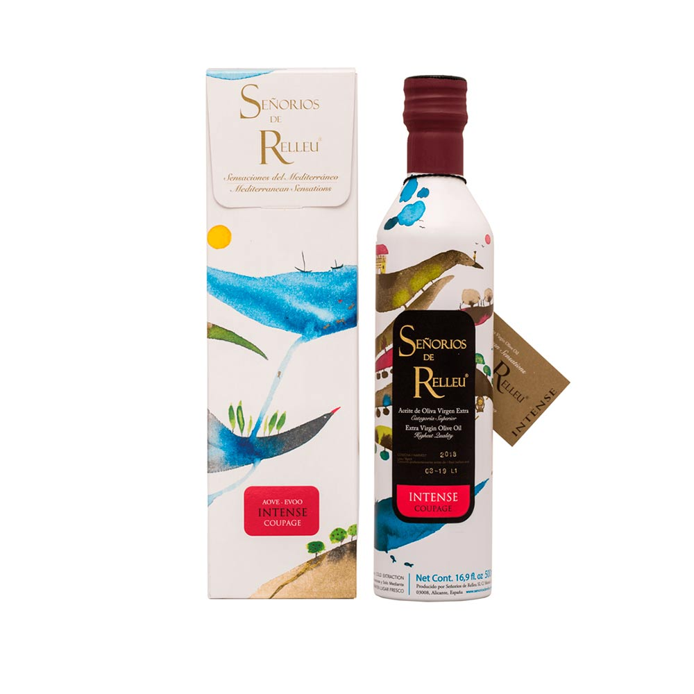 Estuche regalo original Aceite Oliva Virgen Extra Gourmet sabor intenso - 500 ml Coupage