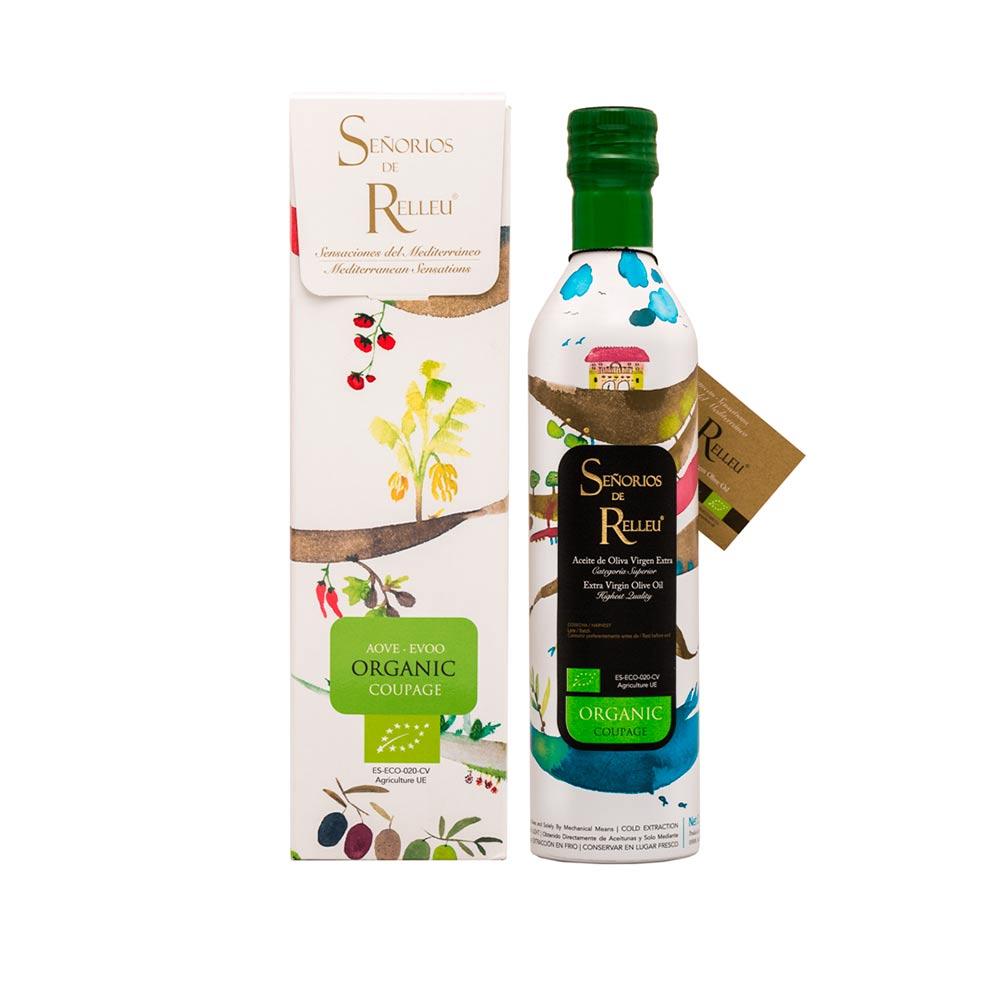 Aceite de Oliva Virgen Extra Ecológico con original y exclusivo estuche de regalo - 500 ml Coupage