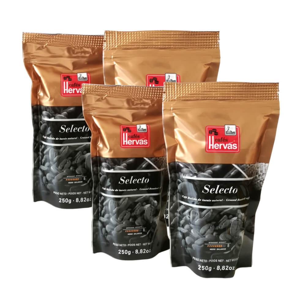 Café tueste natural molido 4 paquetes 250 g