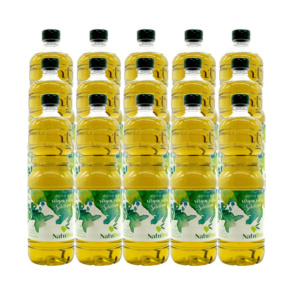 Natuliva Box 15 bottles extra virgin olive oil Pet 1 liter