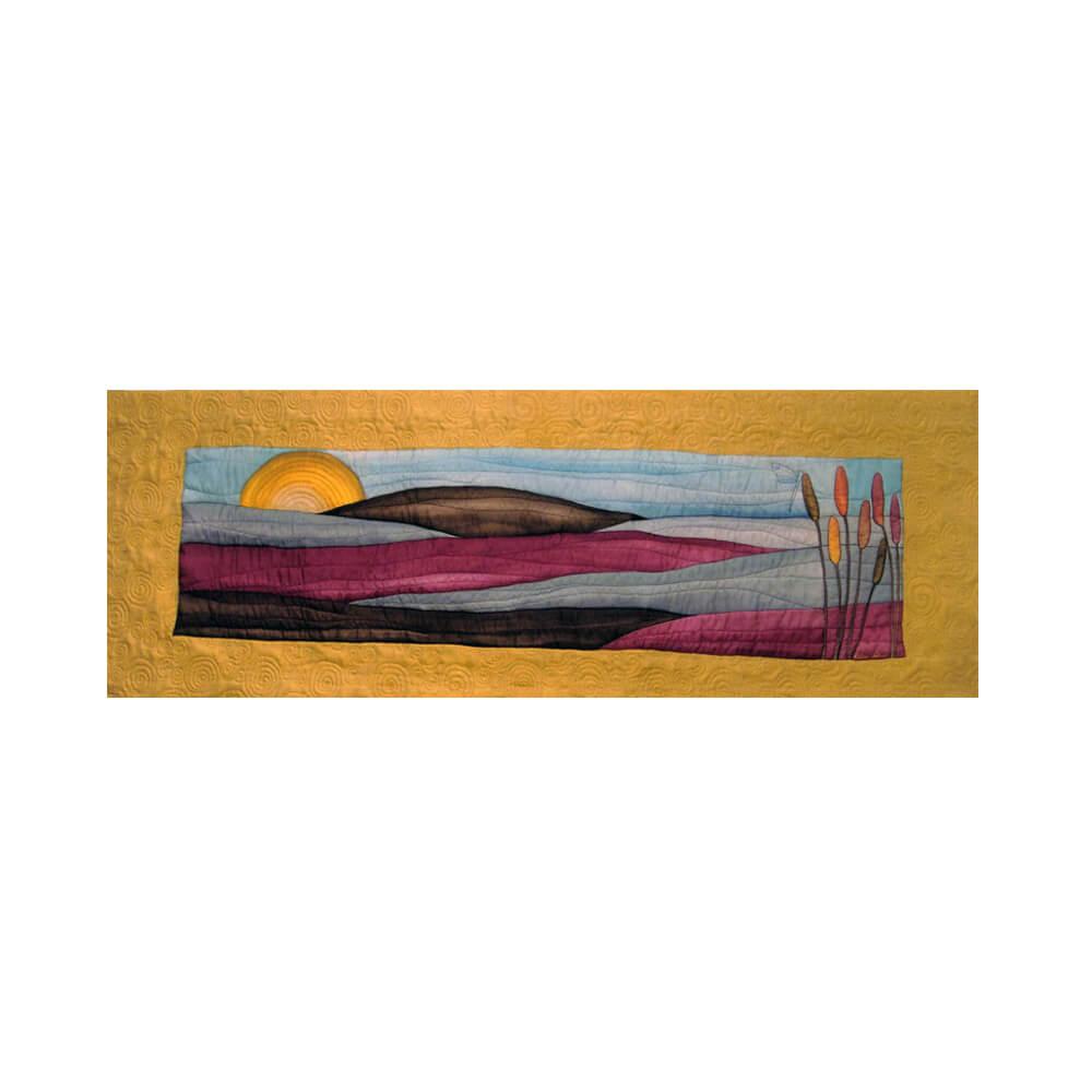 Margo Tapiz Espadaña de seda acolchado 225x106 cm