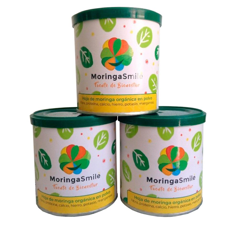 Hoja de moringa orgánica en polvo - Pack 3 unidades