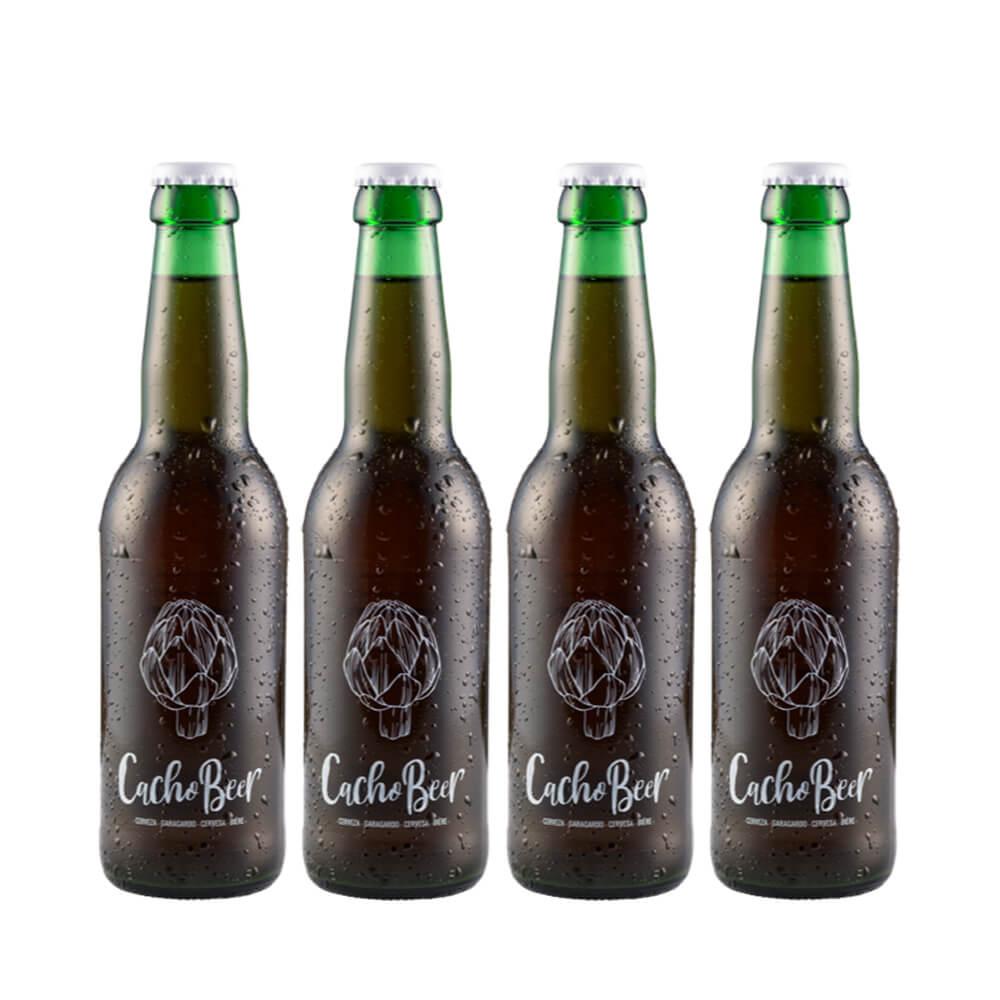Pack de 4 cervezas Cacho Beer 33 cl