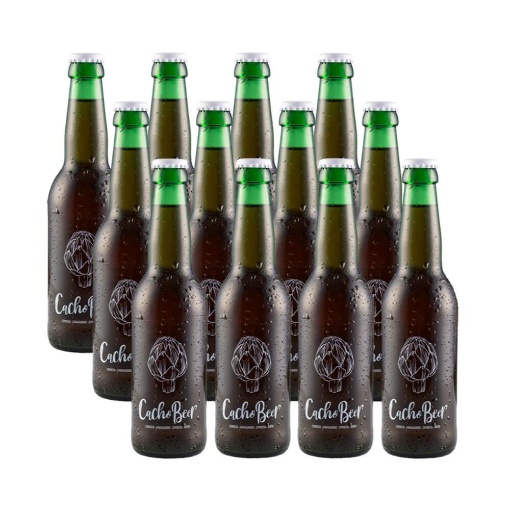 Pack de 12 cervezas Cacho Beer 33 cl