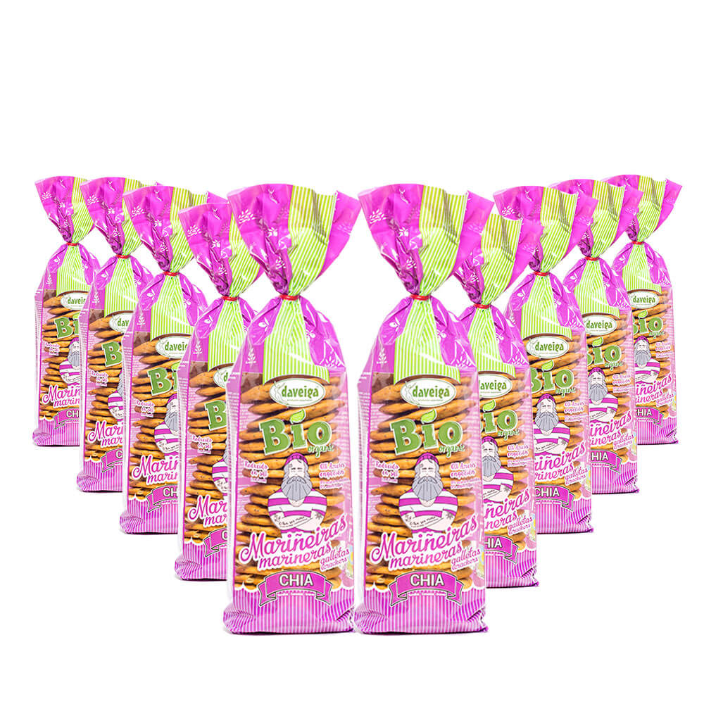 Galleta Marinera Bio con Semillas de Chía - Pack 10
