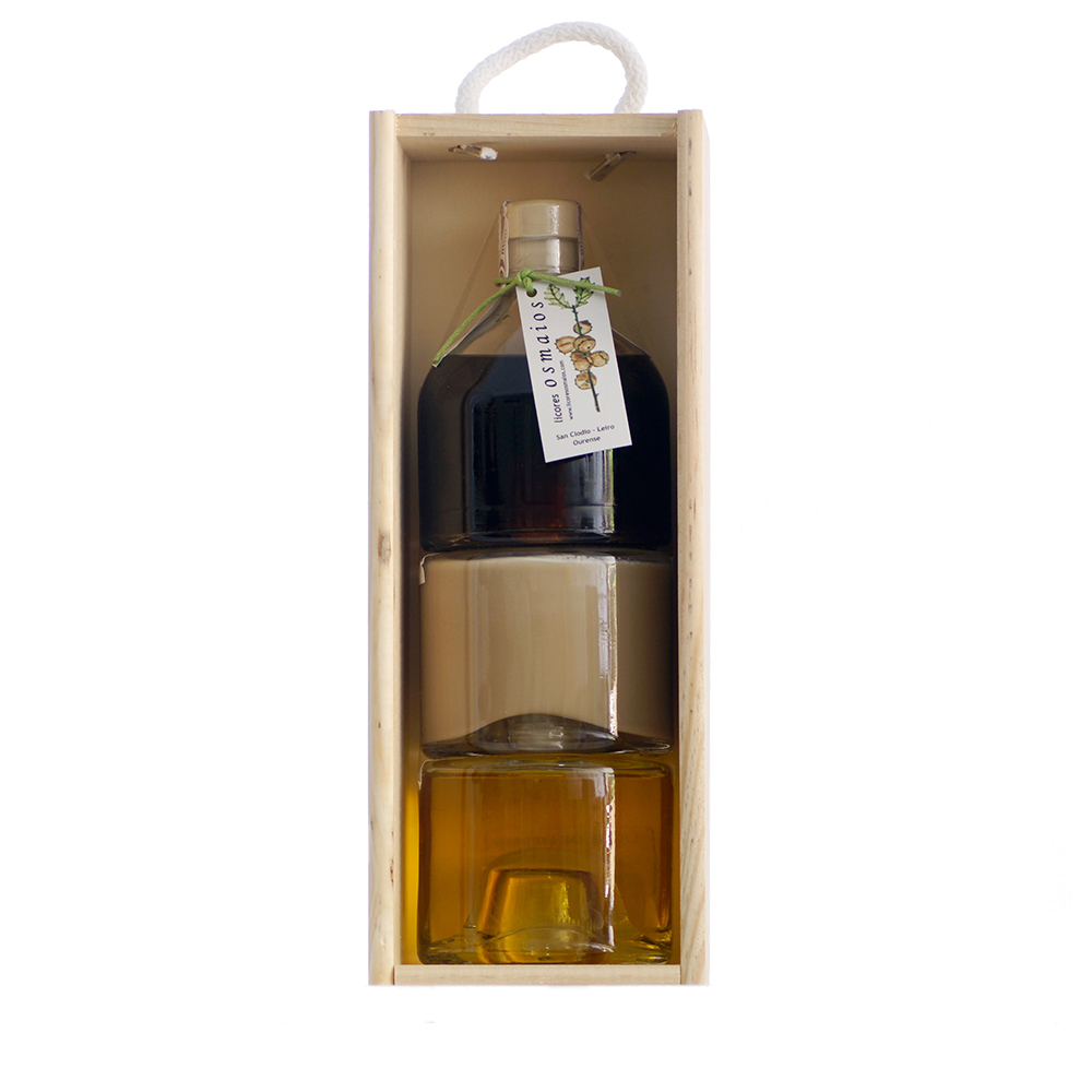 Selección de licor gallego - Pack 3 botellas 20 cl