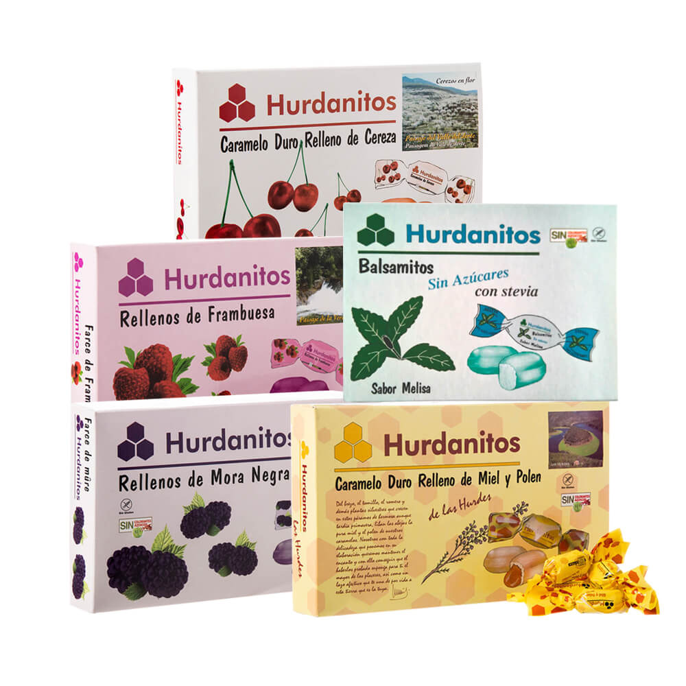 Hurdanitos Selection of stuffed candies - Pack cases 5x140 g