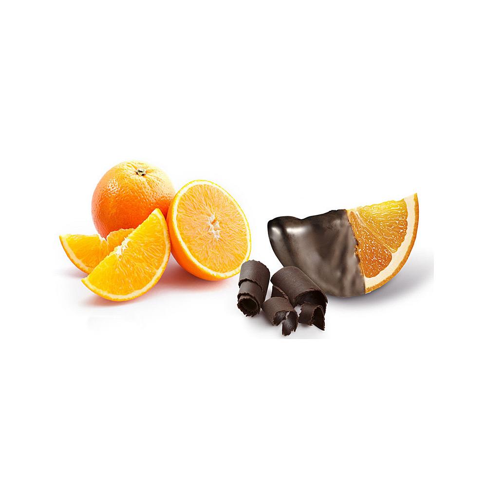 Gajos de naranja confitada con chocolate 2.5Kg (Leticias)