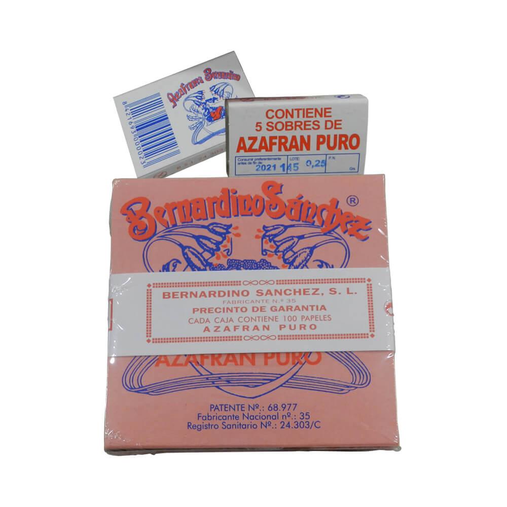 Azafrán puro molido 5 g - Caja de 100 sobres de papel