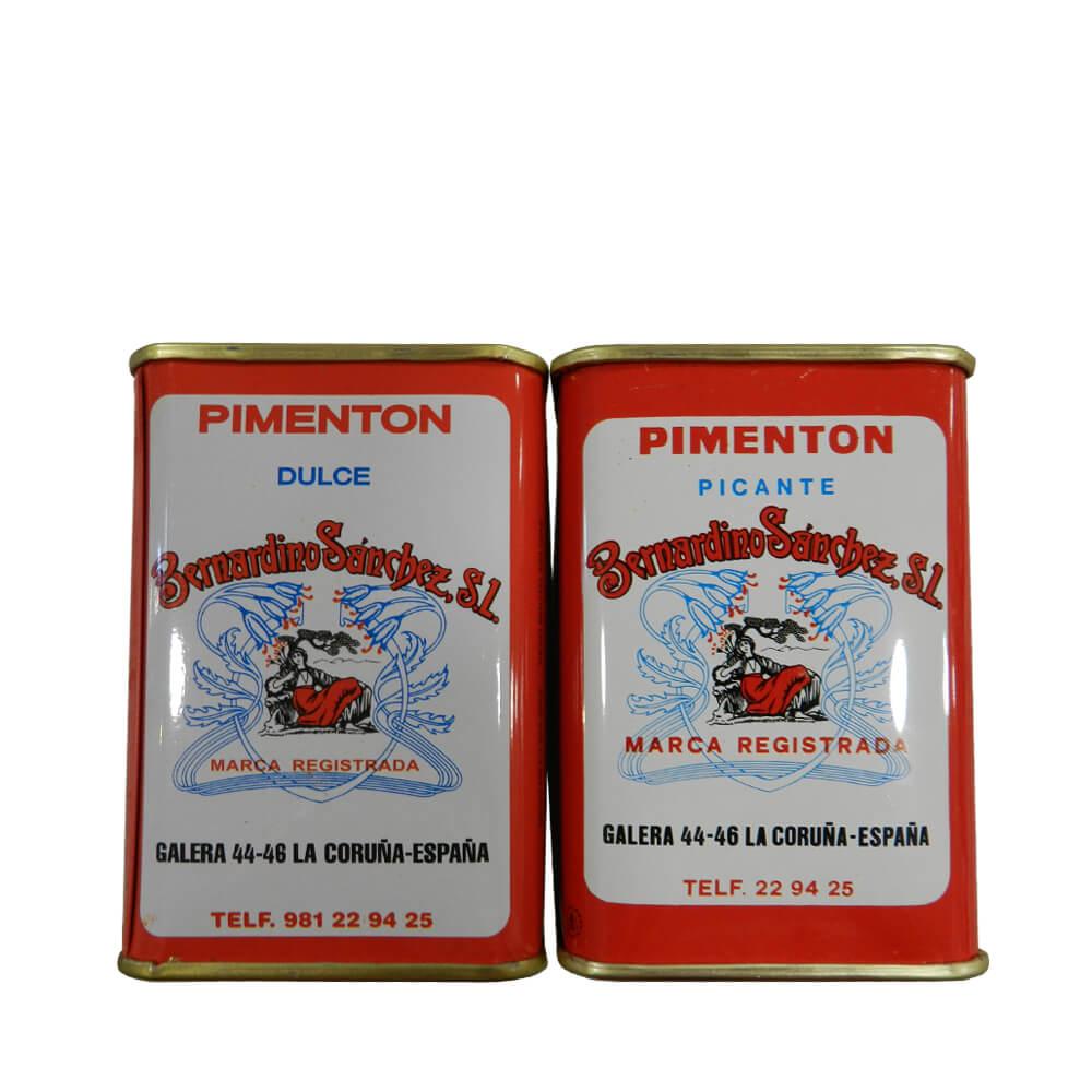 Azafranes Bernardino Pimentón dulce y pimentón picante - 2 latas x 250 g