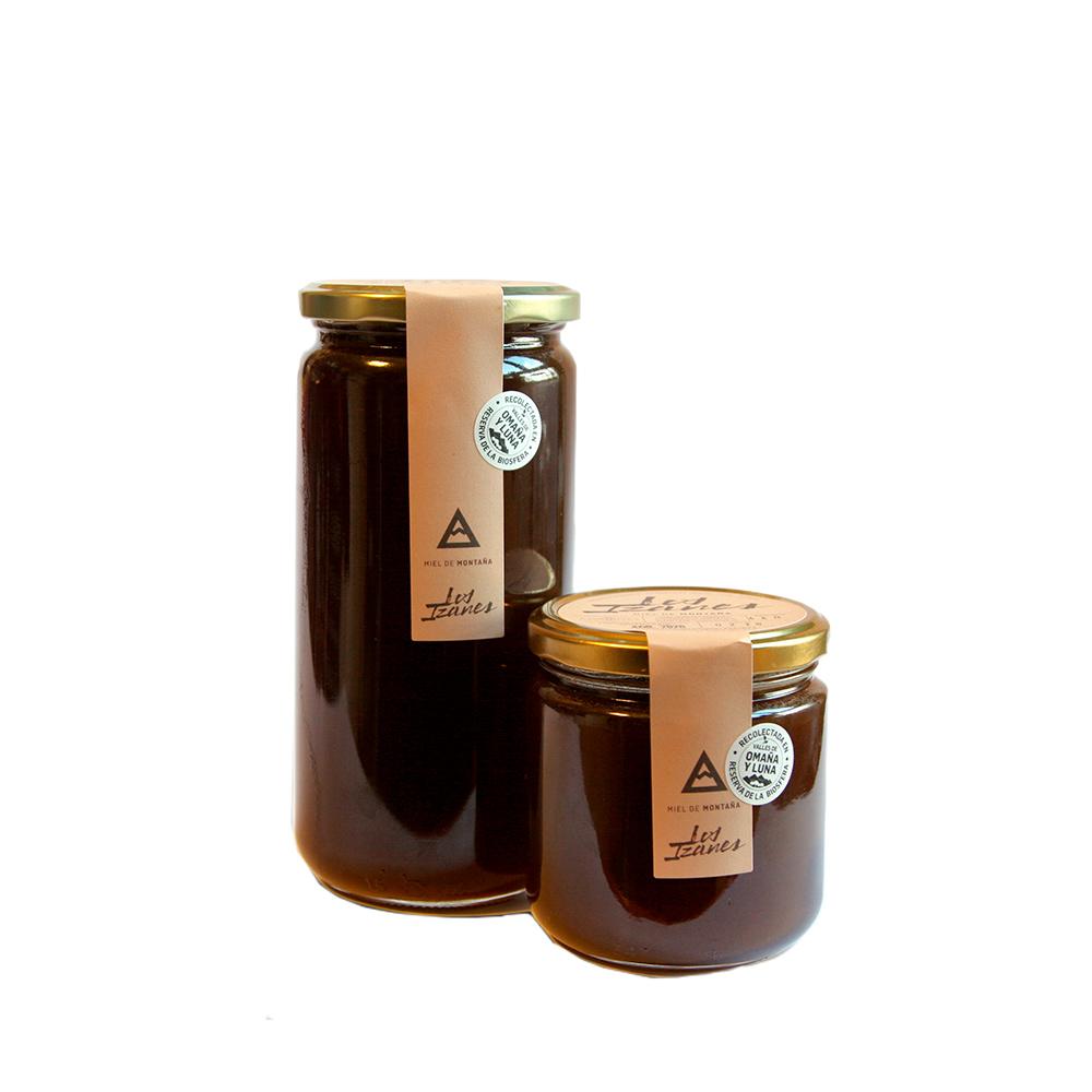 Miel de montaña Los Izanes - Tarro de 1 kg + tarro 440 g