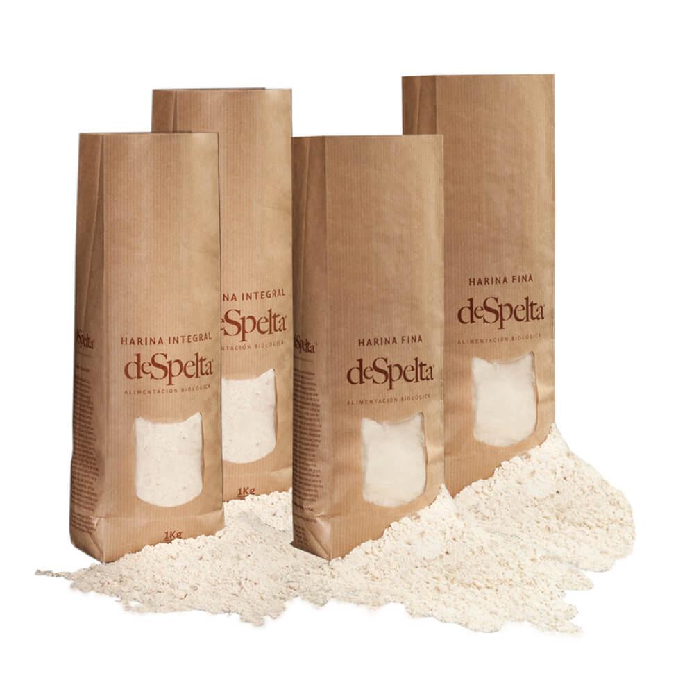 Harinas de espelta eco - Pack 4x1 kg