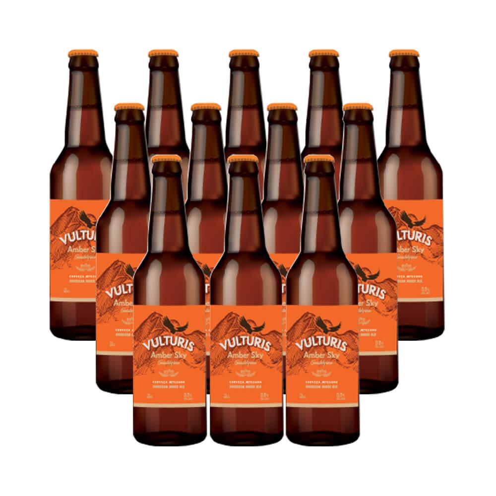 Cerveza Vulturis Cerveza Amber Sky - Caja 12x33 cl