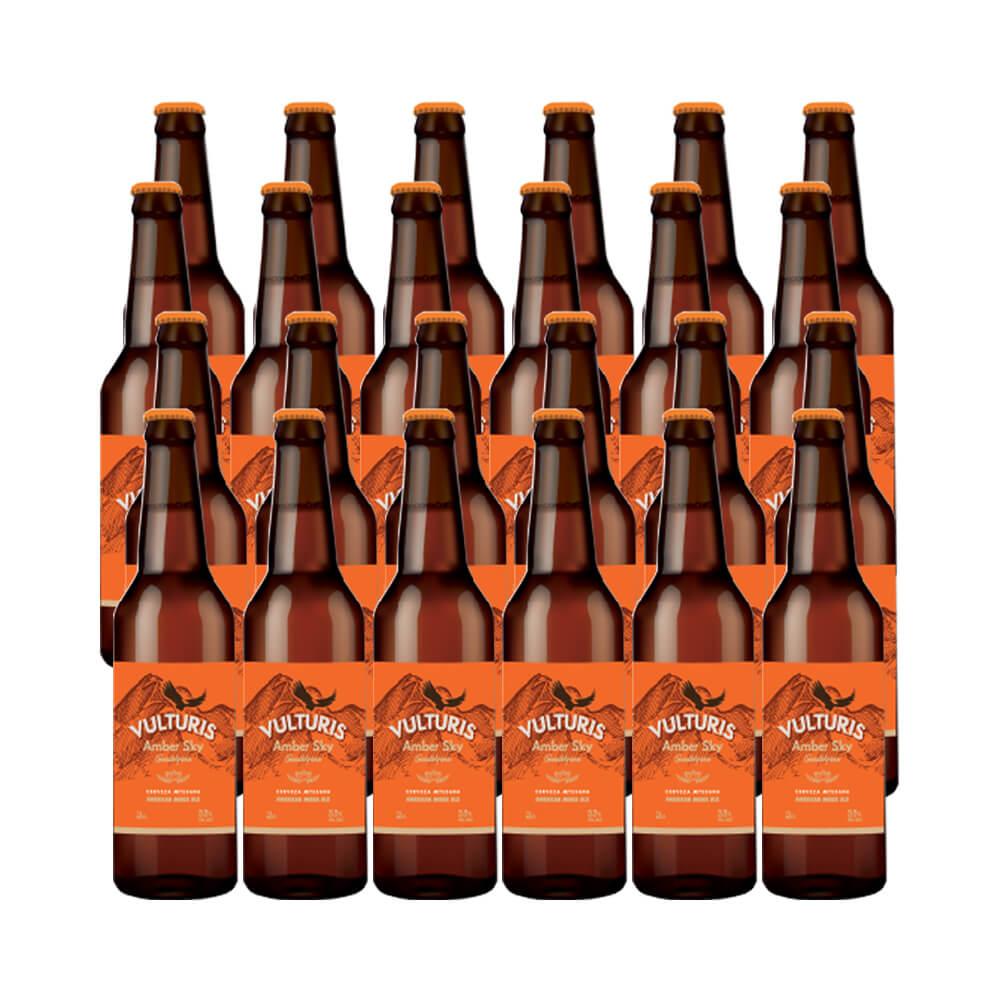 Cerveza Vulturis Cerveza Amber Sky - Caja 24x33 cl