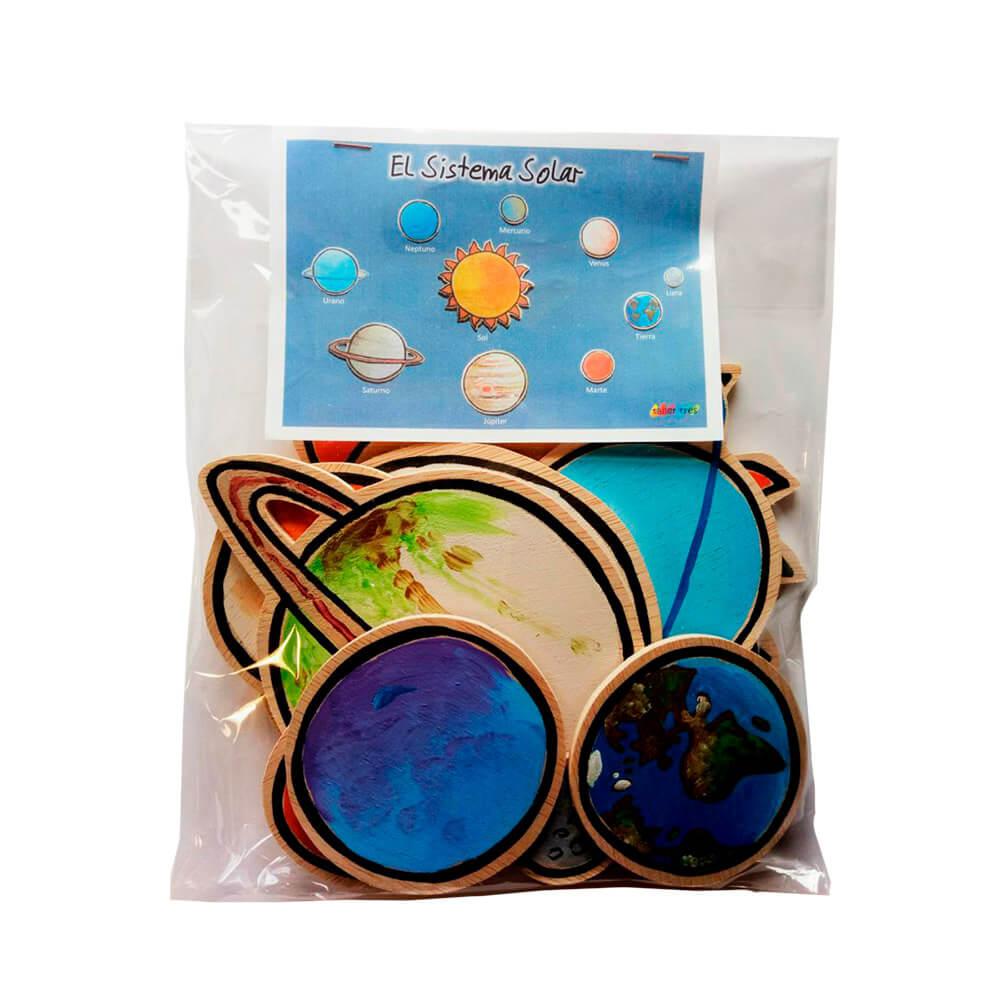 Sistema Solar - Piezas autoadhesivas de madera