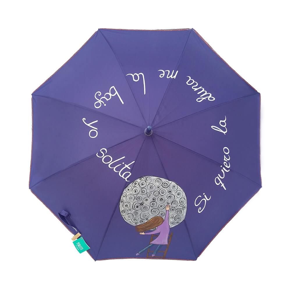 """Paraguas 8 varillas """"Si quiero la luna me la bajo yo solita"""""""