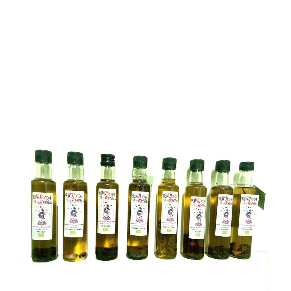 Revolución de aromas Pack aceite oliva virgen extra eco. Condimentado. 2unidades a elegir