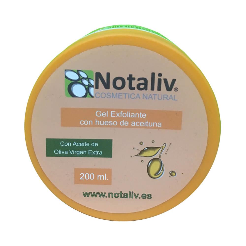 Notaliv Gel exfoliante corporal 200 ml con hueso de aceituna y aceite de oliva virgen extra