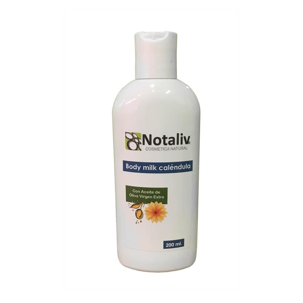 Body milk caléndula y aceite de oliva virgen extra 200 ml