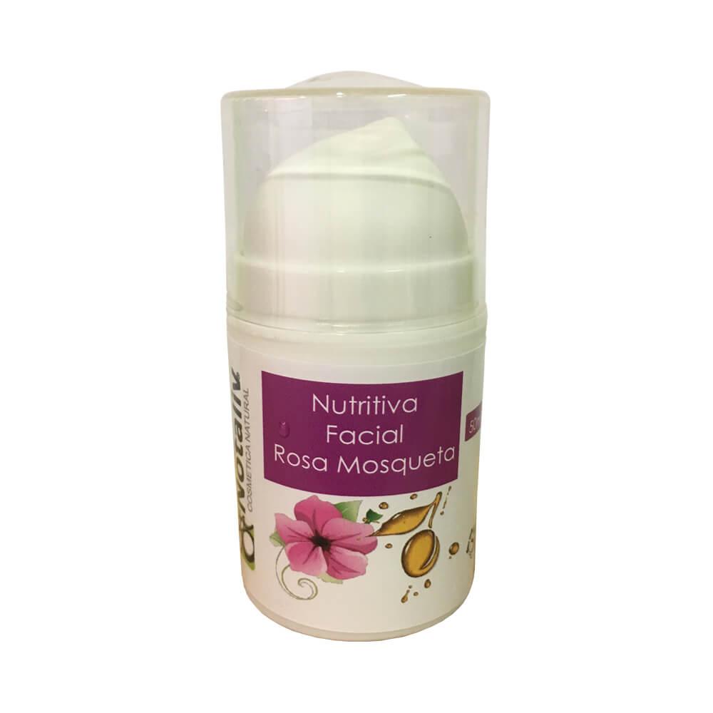 Crema nutritiva facial rosa mosqueta y AOVE 50 ml