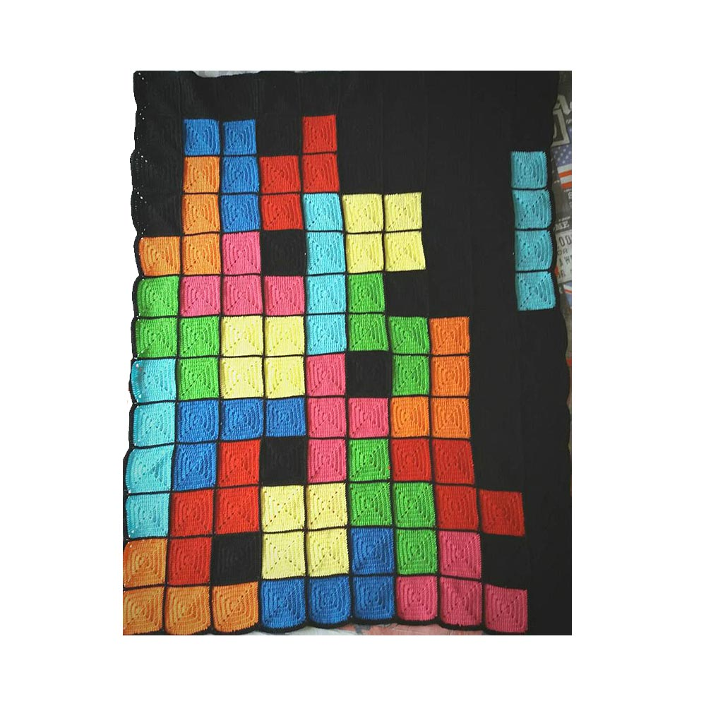 Crafty Elba Manta tetris para cuna o sofá