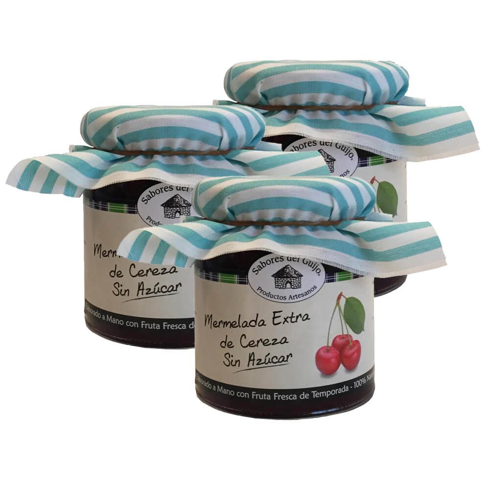 Mermelada de cereza sin azúcar - Pack 3 botes 280 g