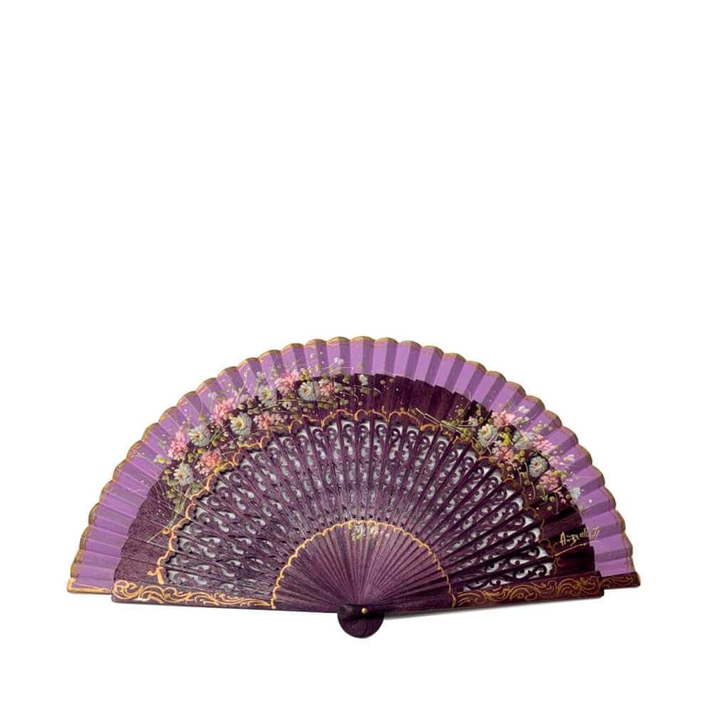 Abanicos Antonio Benlloch Normal fan in birch wood 23 cm - Ref 1516