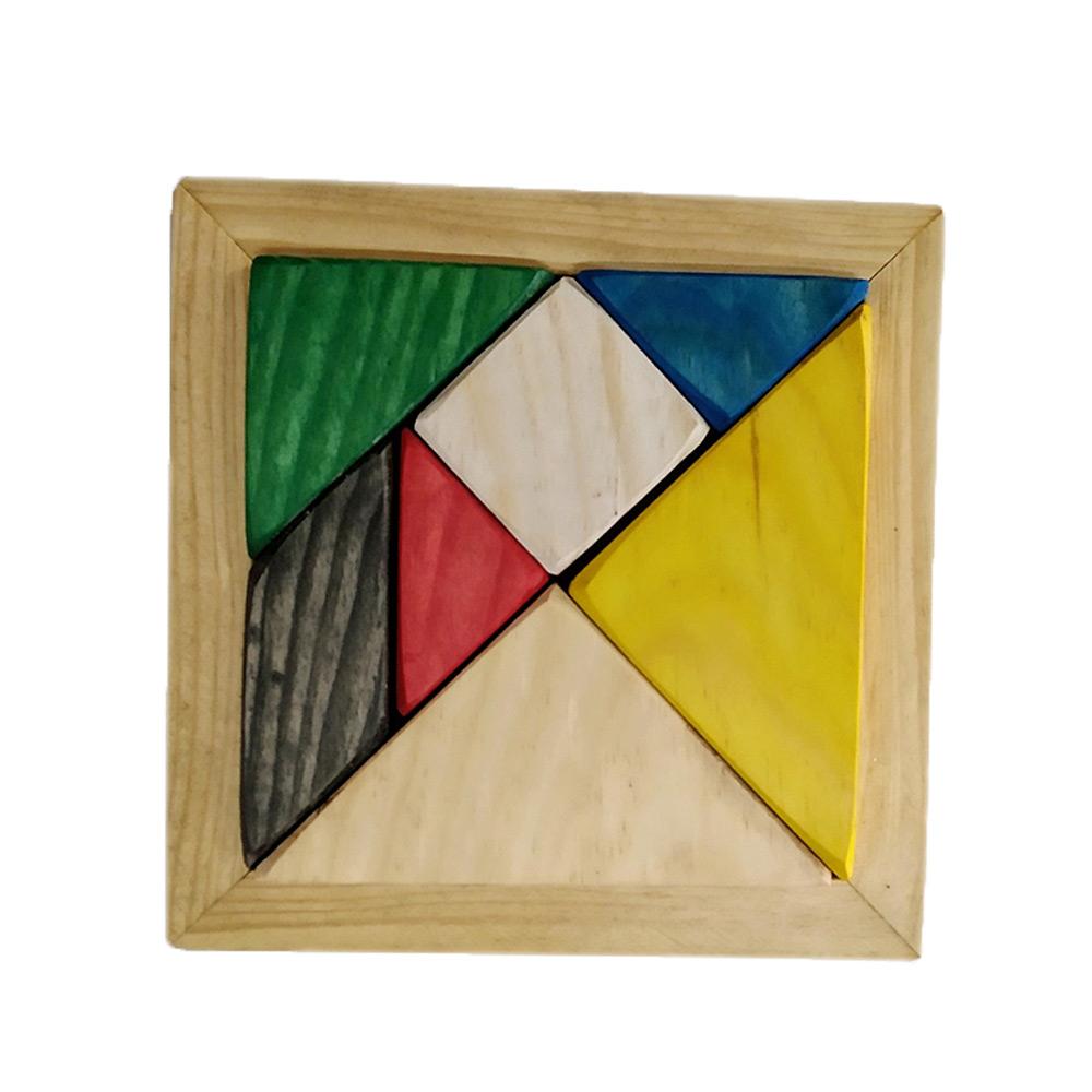 Cousas de madeira Tangram - Madera de pino