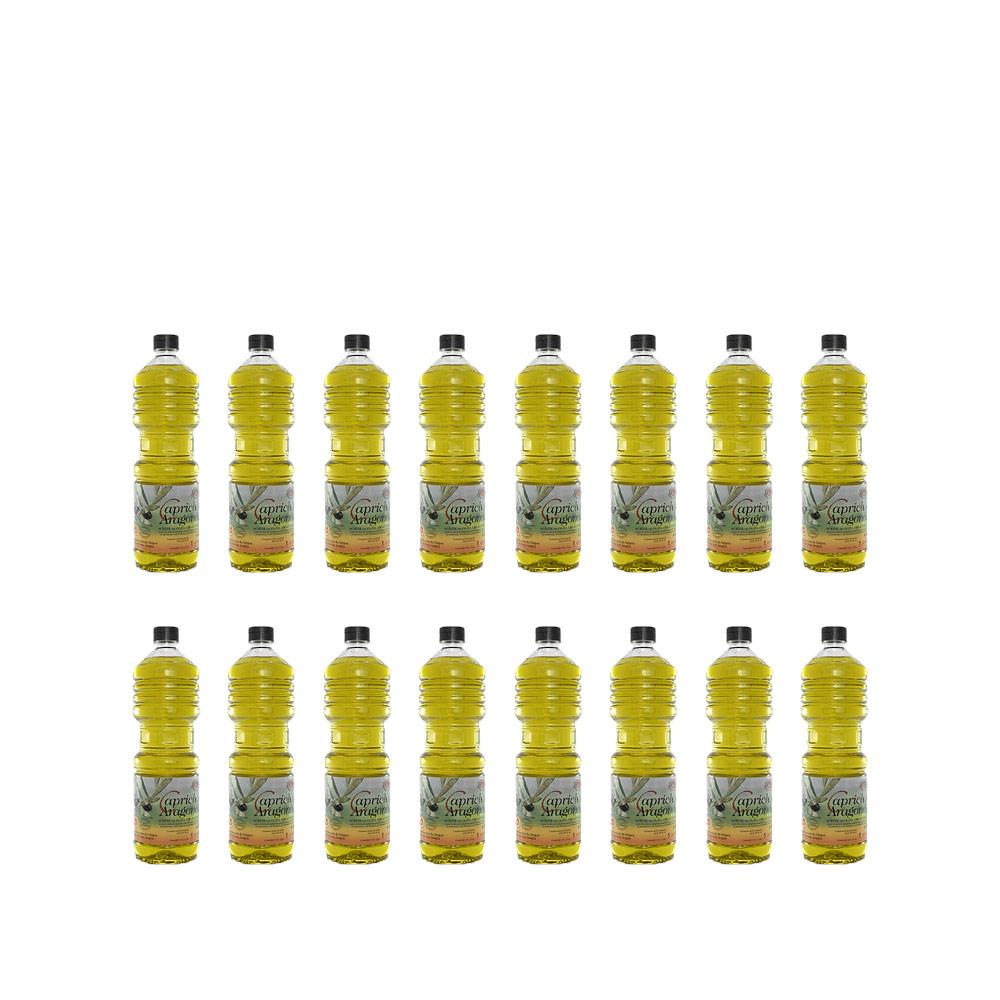 Caja 16 botellas de 1l.aceite Capricho Aragonés
