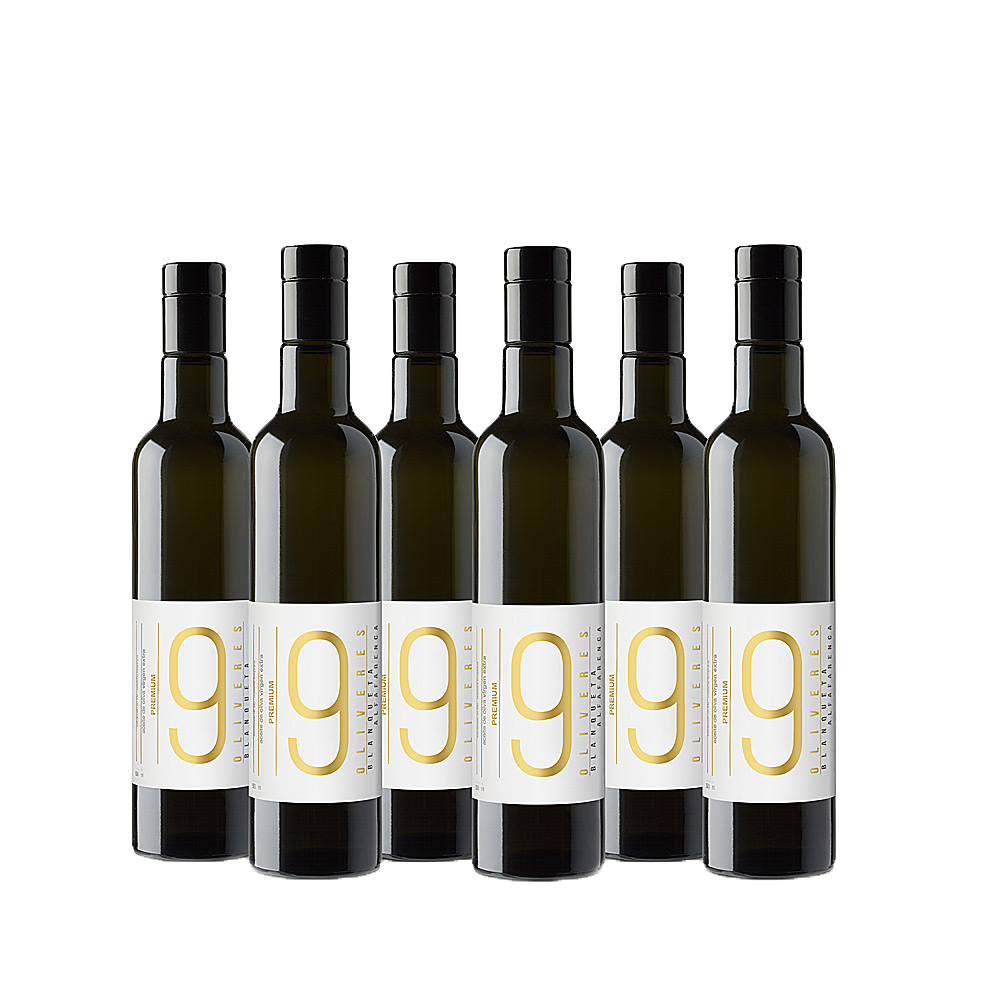 Pack de 6 botellas Premium de aceite de oliva de 500 ml