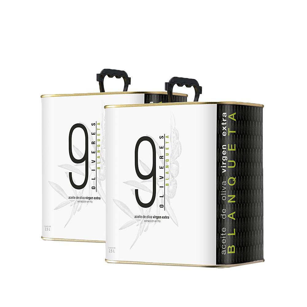 Pack de 2 latas de 2,5 litros de aceite Blanqueta