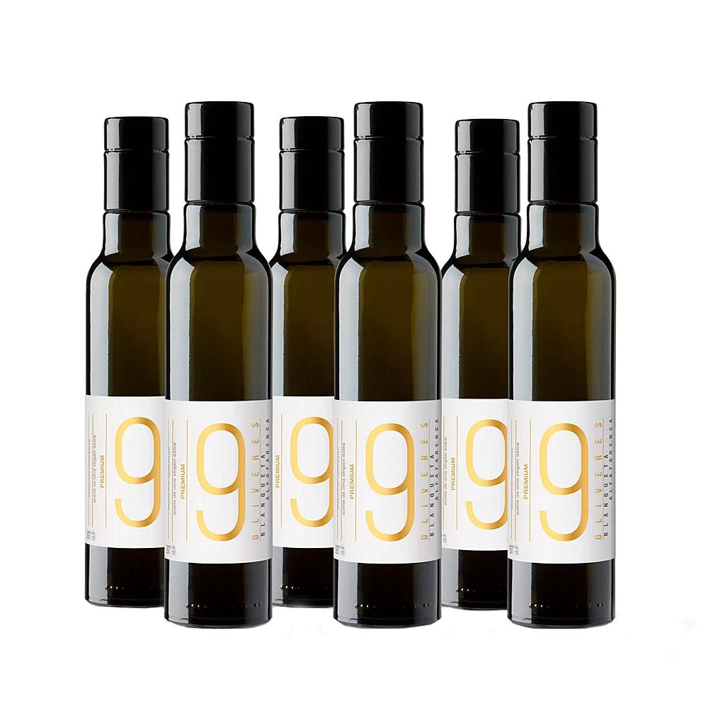 Pack de 6 botellas Premium de aceite de oliva de 250 ml