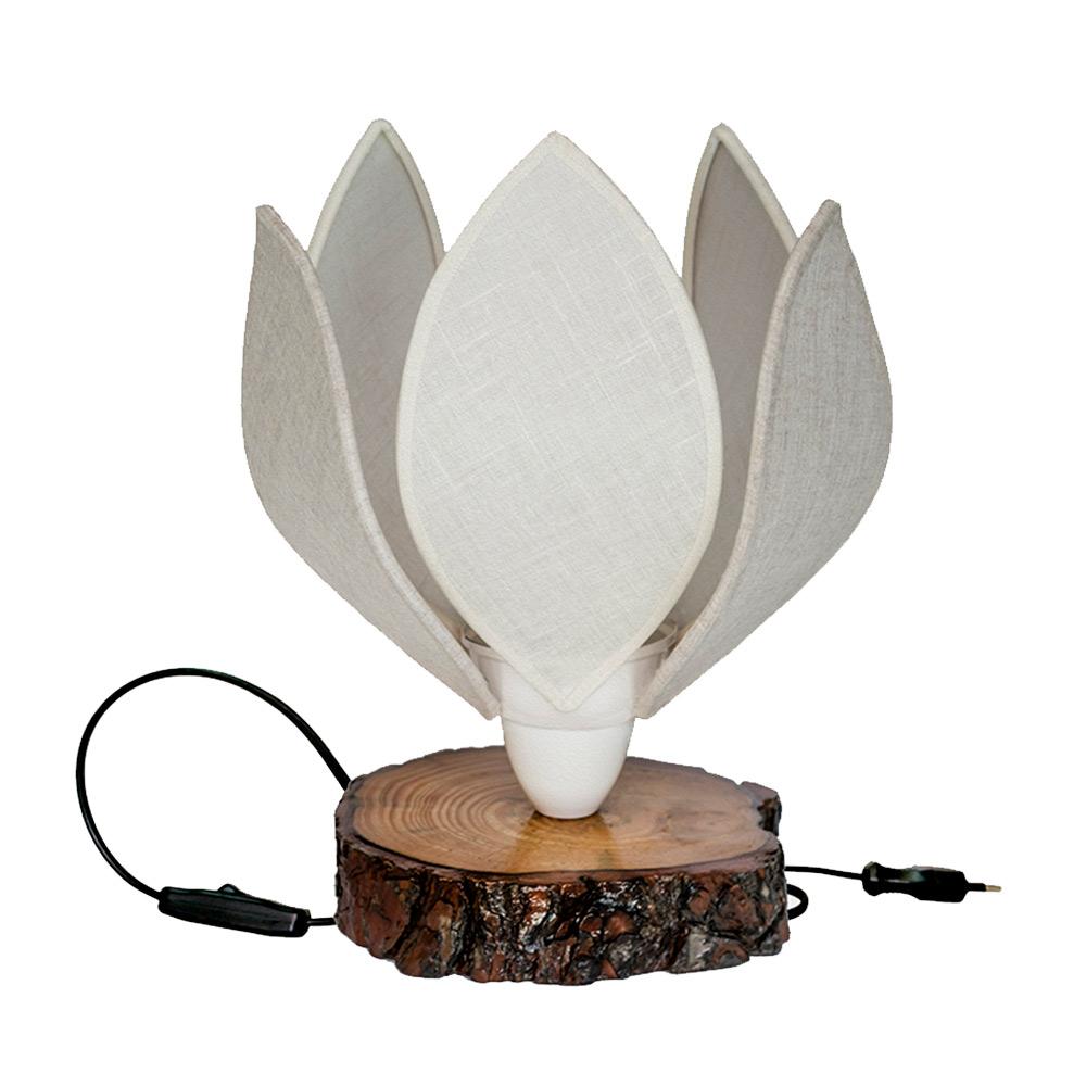 Lámpara de sobremesa con forma de flor