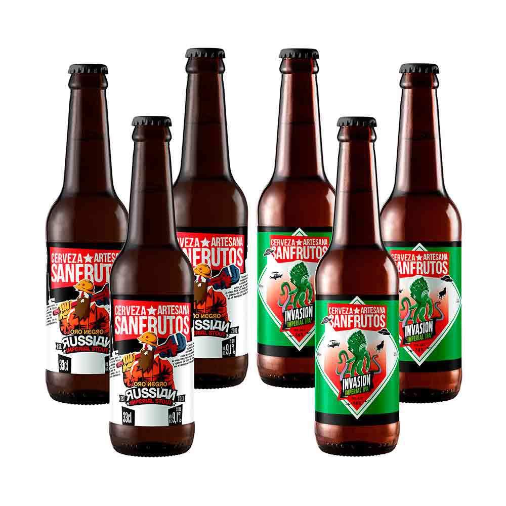 Cerveza Sanfrutos Mix Fuertes - 6 botellas 33 cl