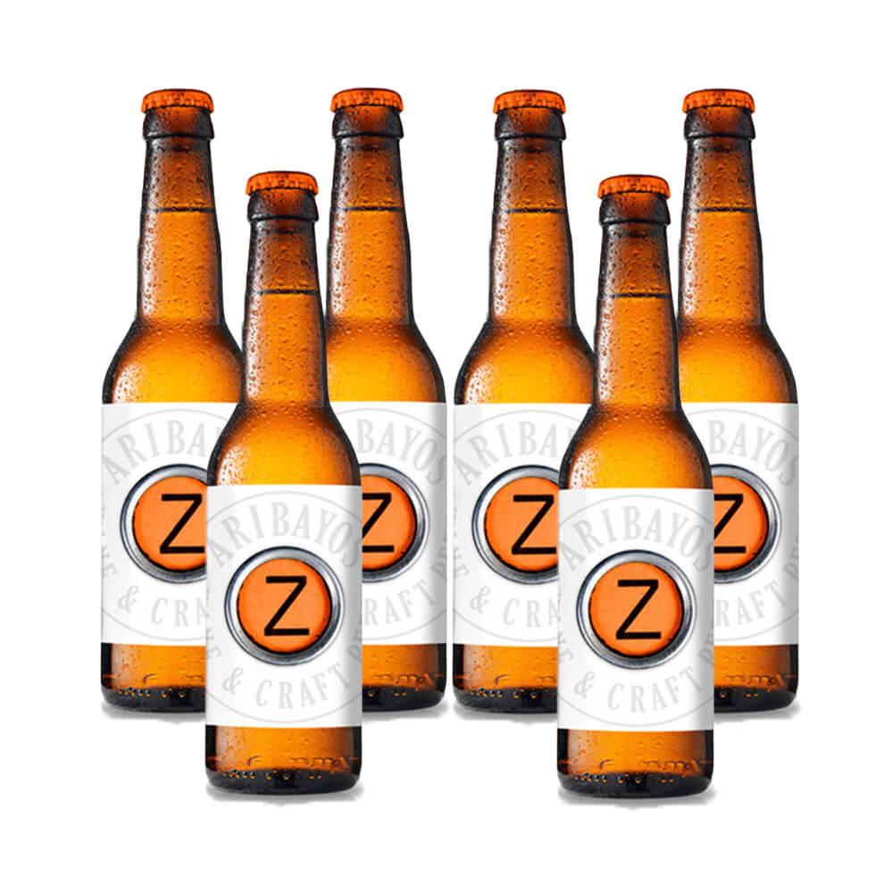 Pack de cervezas artesanas Aribayo Z-Rubia.