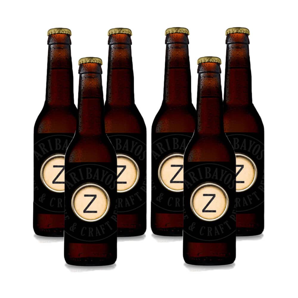 Cerveza artesana Aribayos Z-Abadía - Pack 6 botellas 33 cl