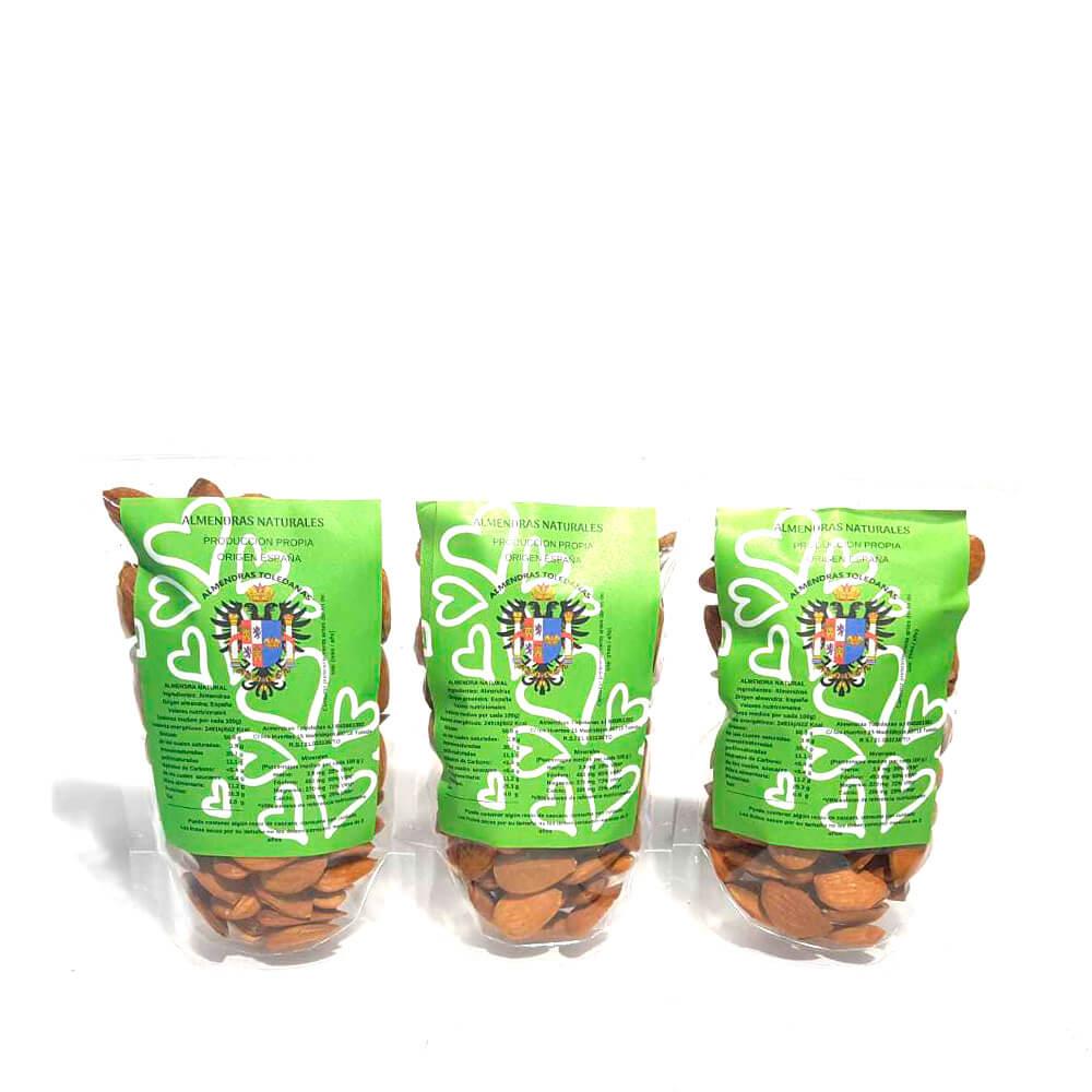 Almendra cruda - Pack 3 bolsas de 150g
