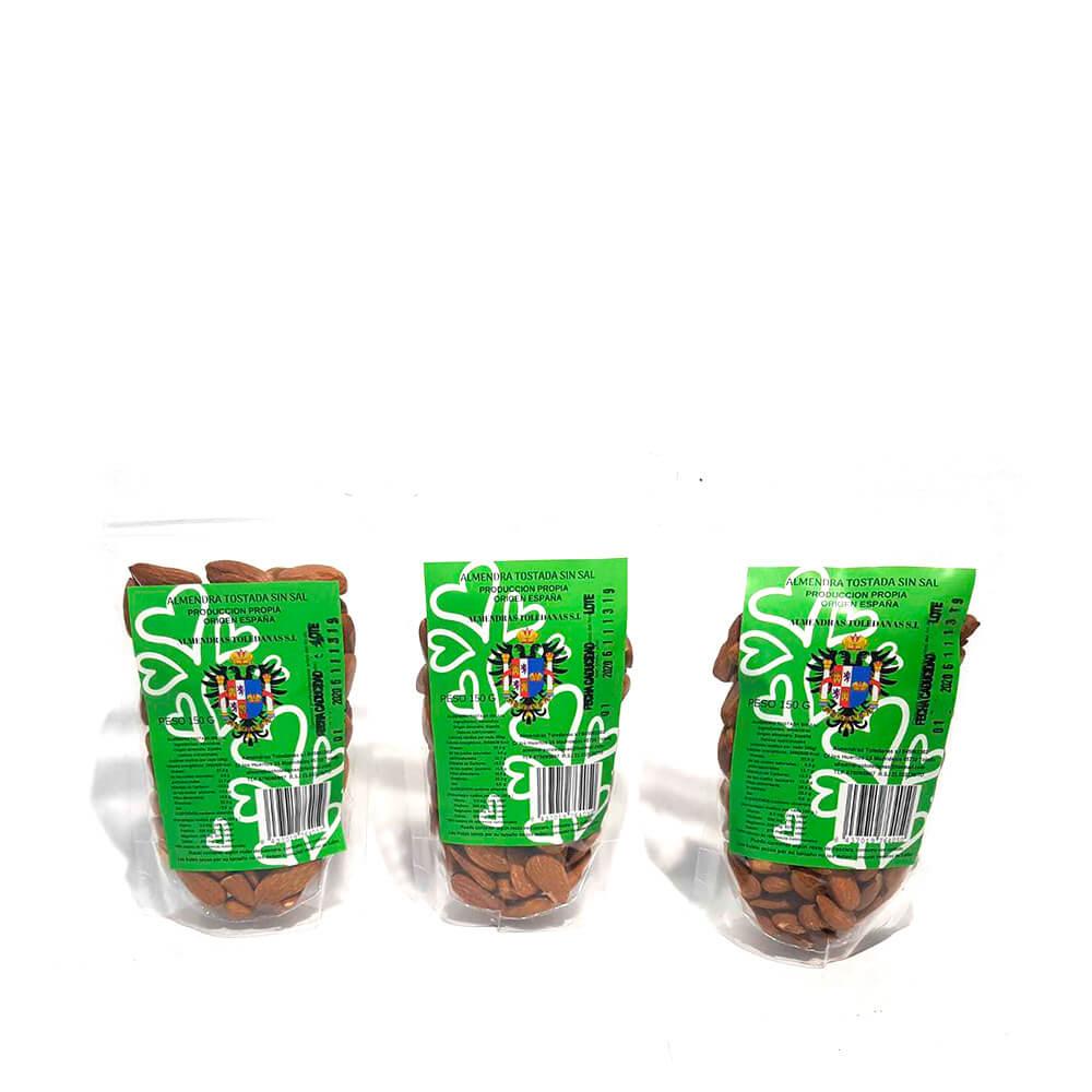 Almendra tostada - Pack 3 bolsas de 150g