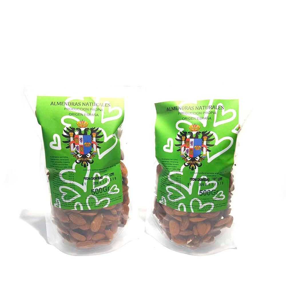Almendra cruda - Pack 2 bolsas de 500g