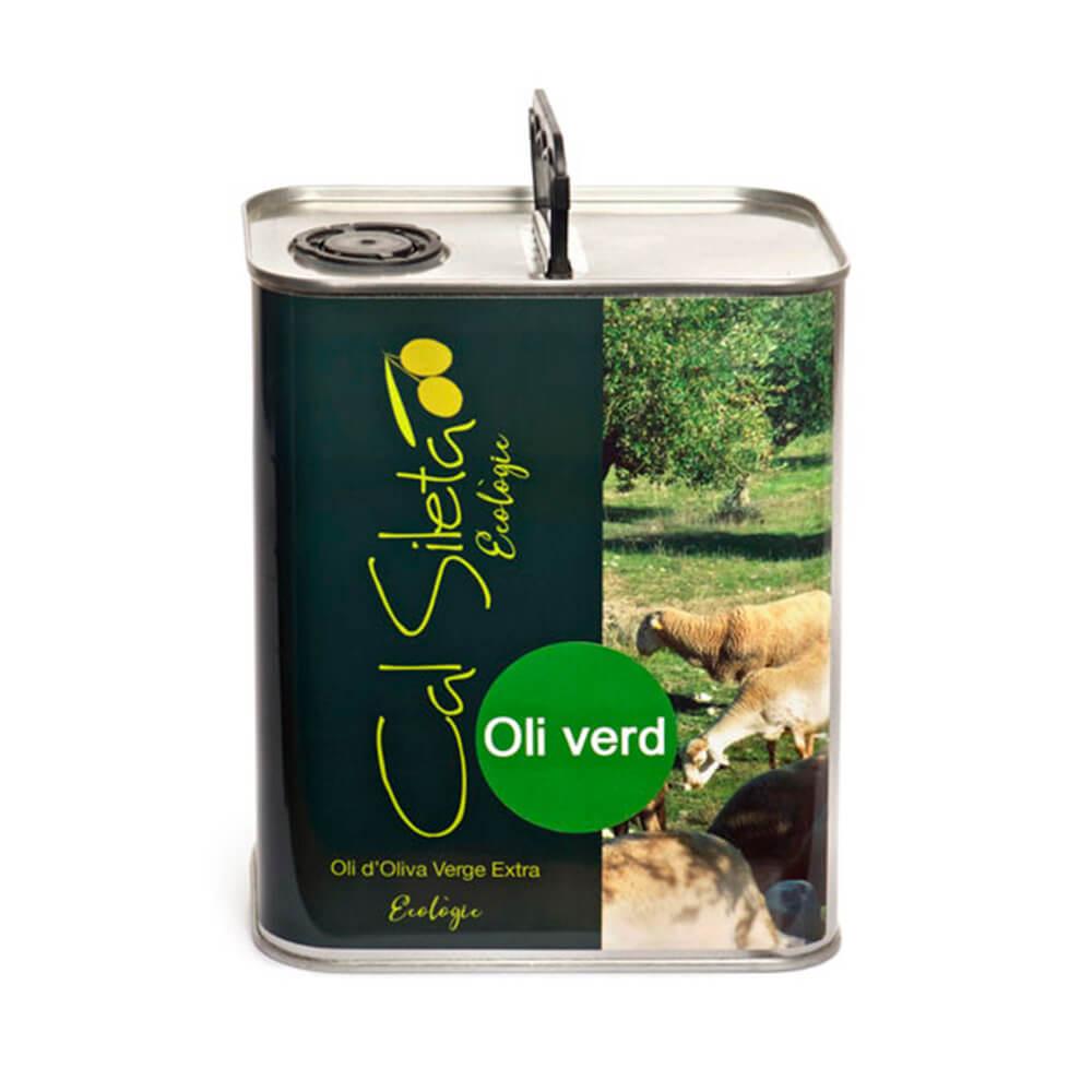 Aceite ecológico Virgen Extra Verde Cal Sileta - Lata 2 L
