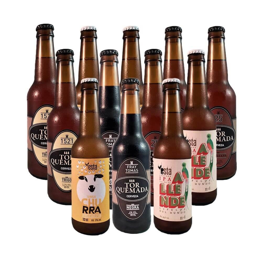 Cervezas Alma del Cerrato variadas - Pack 12 botellas 33 cl